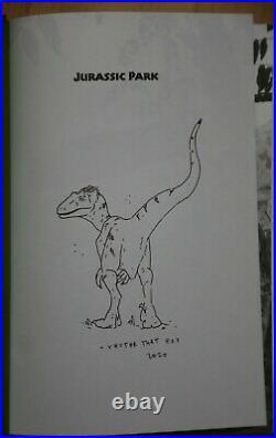 Michael Chrichton Jurassic Park Signed remarqued First Folio Edition