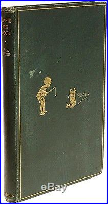 Milne WINNIE THE POOH 1926 ORIGINAL CLOTH FIRST EDITION SIGNED