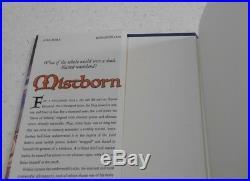 Mistborn by Brandon Sanderson, SIGNED, 1st Edition, HC / DJ, 2006