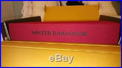 Mister Babadook Pop Up Book First Edition 1261/2000 Signed