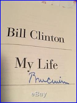 My Life Bill Clinton Signed First Edition with plate number 1616 from Chappaqua