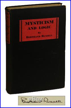 Mysticism and Logic by BERTRAND RUSSELL SIGNED First Edition 1929 Nobel Prize