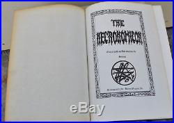NECRONOMICON Deluxe SIGNED First Edition Qliphoth Grimoire Kenneth Grant RARE