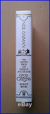 NEIL GAIMAN Good Omens DELUXE Script Book, 1st/1st, HBK, Limited Edition SIGNED