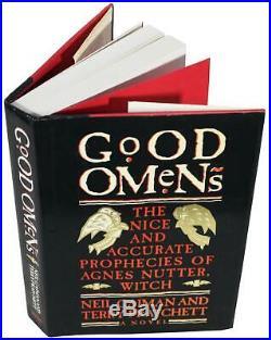 NEIL GAIMAN & TERRY PRATCHETT Good Omens SIGNED Hardcover 1990 1st First Edition