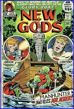 NEW GODS #6 7.5 SIGNED BY JACK KIRBY! Lone Star Comics COA