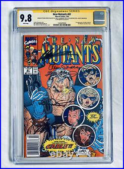 NEW MUTANTS #87 CGC 9.8 SS (1st Cable) x5 Signed NEWSSTAND VARIANT LIEFELD
