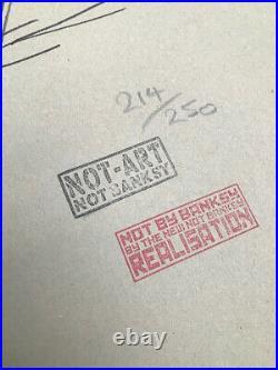 NOT BANKSY Realisation FAKE! Japanese Import 1st Edition SCREEN PRINT