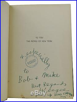 Naked City SIGNED by WEEGEE First Edition 1st 1945 New York City Photography