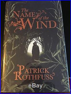 Name Of The Wind Wise Mans Fear Pat Rothfuss 1/1 1st First Edition UK HB