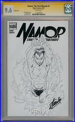 Namor First Mutant #1 Sketch Variant Cgc 9.6 Signature Series Signed Stan Lee