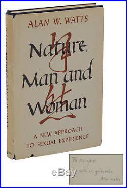 Nature, Man and Woman ALAN WATTS SIGNED First Edition 1st Printing 1958 Zen