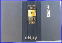 Needful Things by Stephen King (1991, Hardcover) INSCRIBED FIRST EDITION