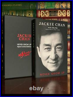 Never Grow Up SIGNED by JACKIE CHAN 1st Edition First Printing Limited Hardback