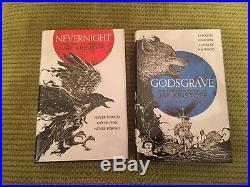 Nevernight and Godsgrave signed by Jay Kristoff hardcover UK first editions