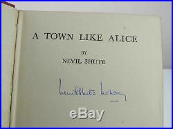 Nevil Shute A Town Like Alice Signed First UK Edition 1950 1st Book