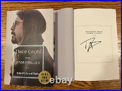 New David Grohl SIGNED BOOK The Storyteller 1ST EDITION Nirvana Foo Fighters