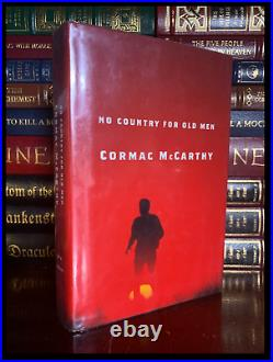 No Country For Old Men SIGNED by CORMAC McCARTHY 1st Hardback Edition Print
