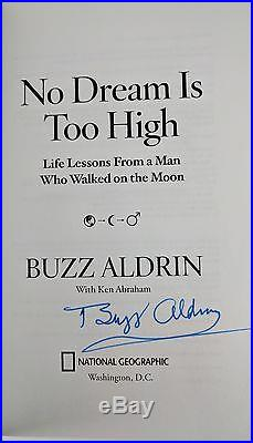 No Dream is Too High by Buzz Aldrin (Signed, First Edition, First Printing)