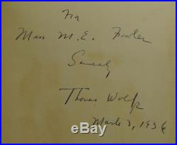 Of Time and the River SIGNED by THOMAS WOLFE First Edition 1st Printing 1935