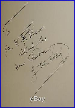 Old Waldorf Bar Days ALBERT CROCKETT First Edition Signed by Oscar Tschirky