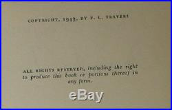 P. L. TRAVERS Mary Poppins Opens the Door SIGNED FIRST EDITION