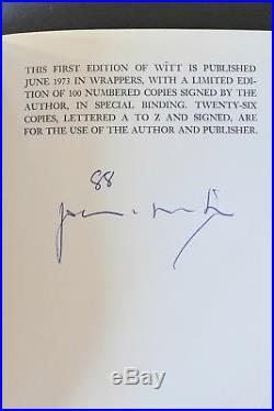 PATTI SMITH WITT LTD. SIGNED FIRST EDITION 1 of 100 NUMBERED COPIES -RARE-