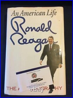 PRESIDENT RONALD REAGAN SIGNED AN AMERICAN LIFE FIRST EDITION With PROVENANCE