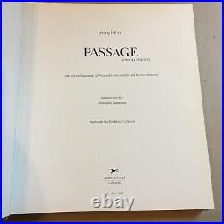 Passage SIGNED by Irving Penn FIRST EDITION (1991, Hardcover) RARE