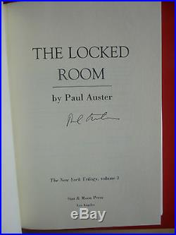 Paul Auster,'New York Trilogy' all first editions all SIGNED, City of Glass
