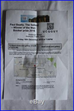 Paul Beatty (2015)'The Sellout', TRUE US first edition, SIGNED, LINED, Booker