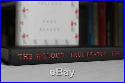 Paul Beatty,'The Sellout', US first edition 1/1 SIGNED and LINED, Booker winner