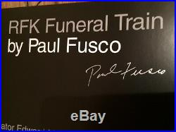 Paul Fusco RFK Funeral Train, Signed Book First edition 2000