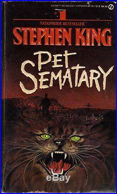 Pet Sematary First edition signed by Stephen King. Great shape