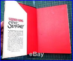 Pet Sematary by Stephen King SIGNED 1983 First Edition First Printing HC DJ