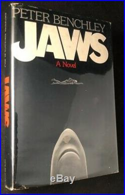 Peter BENCHLEY / JAWS STATED FIRST EDITION with SIGNED BOOKPLATE 1974