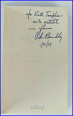 Peter Benchley Jaws First Edition Signed, Inscribed & Dated Prior to Pub