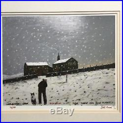 Peter Brook signed limited edition AT FIRST RAIN THEN SNOW AND NOW SLEET