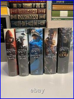 Peter V Brett Demon Cycle SET TRUE First Edition Signed Painted Man / Warded Man
