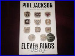 Phil Jackson 11 Rings 1st Edition Book Signed by Kobe Jordan Phil UDA