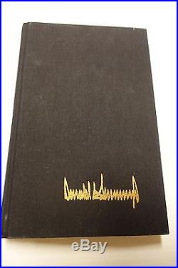 President Donald Trump Signed The Art Of The Deal True First Edition! Jsa Coa