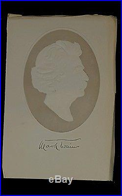 Pudd'nhead Wilson Mark Twain FIRST EDITION 1894 with signed silhouette