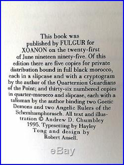 QUTUB THE POINT Andrew Chumbley + Signed Talisman 1995 1st Edition Fulgur/Xoaon
