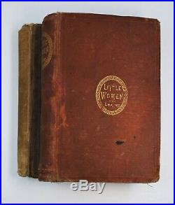 RARE 1870-71 Little Women First Edition Set 2 Parts SIGNED Louisa May Alcott