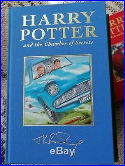 RARE Signed Harry Potter Deluxe First Edition 6 Book fabric hardback JK Rowling