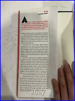 READY PLAYER ONE Signed by Ernest Cline Hardcover Book First Edition 1st Print