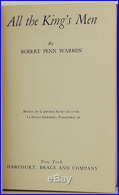 ROBERT PENN WARREN All the King's Men SIGNED FIRST EDITION