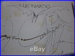 Ralph Steadman original signed artwork 1984 inside I, LEONARDO 1983 first edition
