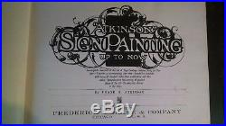 Rare 1909 First Edition Atkinson Sign Painting Book