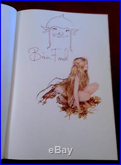 Rare FAIRIES 1979 US 1st Edition Brian Froud Alan Lee SIGNED w ORIGINAL DRAWING